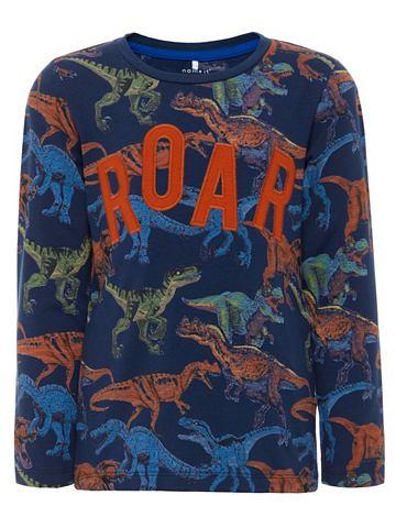 Dinosaurier-Print кофта с длинa рукава...