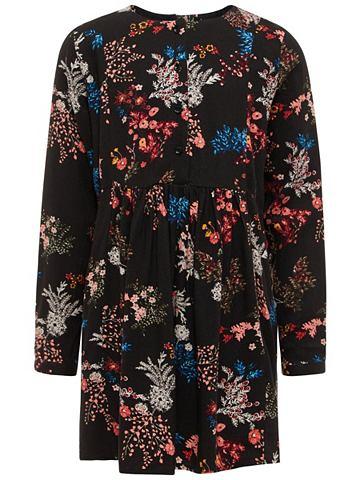 Цветы платье с длинa рукавами