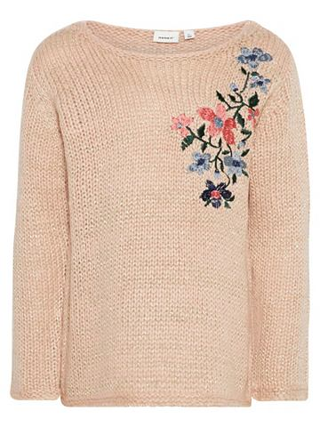 NAME IT Цветочнaя вышивка пуловер