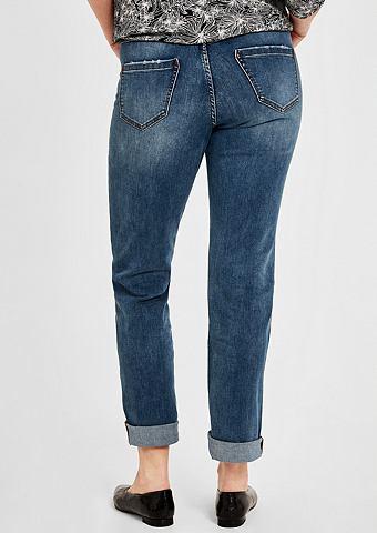Curvy Зауженные джинсы потертые