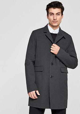Нежный пальто с воротник стойка