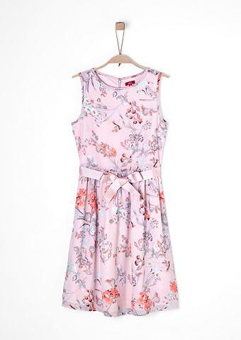 Праздничное платье с c цветочным узоро...