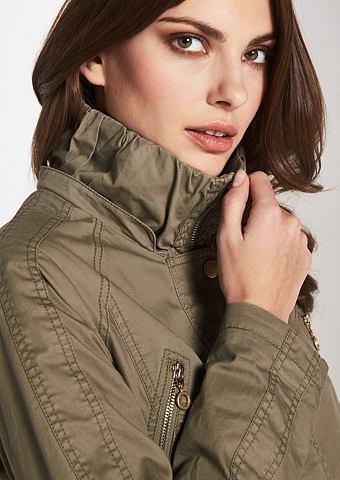 Куртка длинная с съемный капюшон