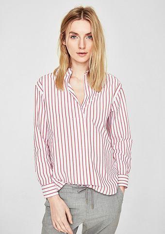 Полосатый блузка хлопковая