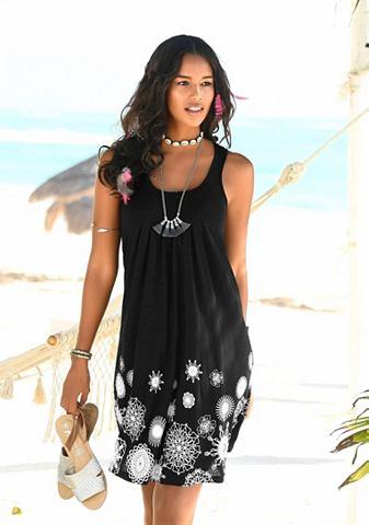 Платье пляжное с графический узор