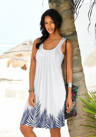 Платье пляжное с Blätterprint