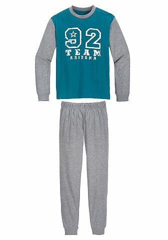 Le брюки пижама длинa с Nummern узор с...