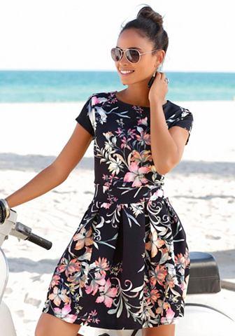 Платье с юбка со складками