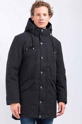 Пальто короткое с warmer капюшон