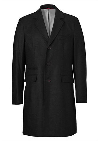 Пальто шерстяное в элегантный Design