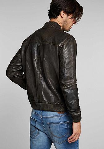 Leather жакет men