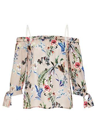 Блузка с голыми плечами из шелк