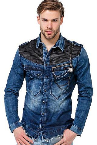 CIPO & BAXX Cipo & Baxx Herren рубашка джинсов...