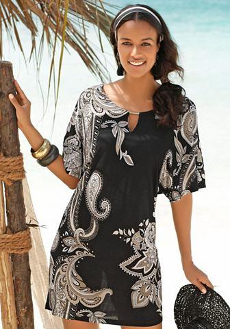 Платье пляжное с Zierdetail на вырез