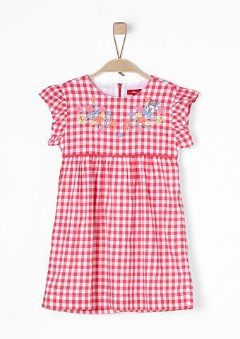 Вышитый Karo-Kleid для Mädchen