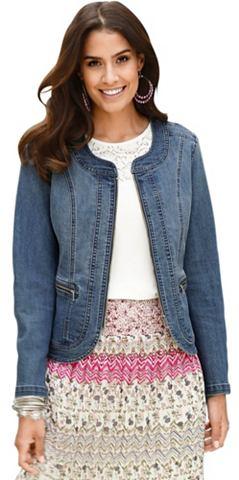 Пиджак джинсовый в модный имитация тер...