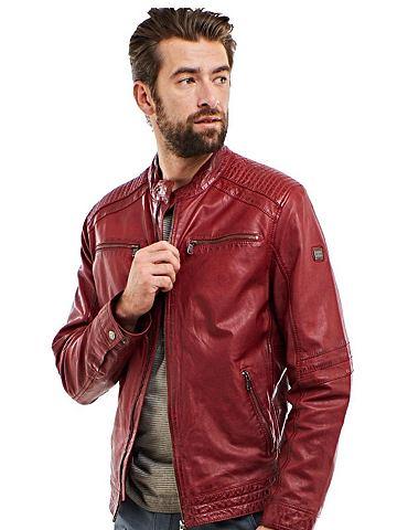 Байкер-стиль куртка кожаная