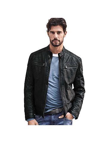 EMILIO ADANI Куртка кожаная в Bikerlook