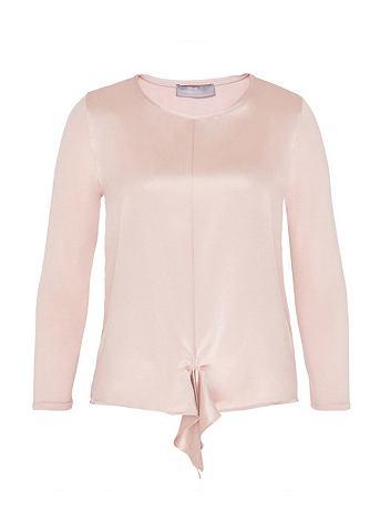 Блузка шелковая с с драпировкой