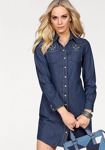 Платье джинсовое »mit изящный ок...