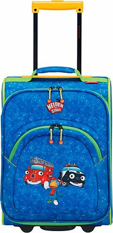 Текстильный чемодан с 2 колесики для д...