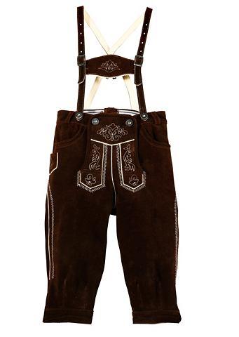 Детские брюки кожаные с окантовка