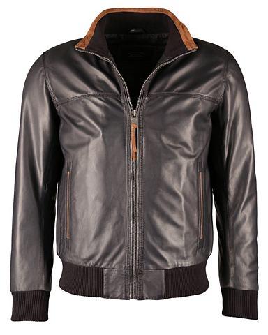 Eleganter куртка кожаная с Kontrastein...