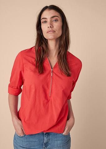 Zipper-Bluse с эластичный пояс