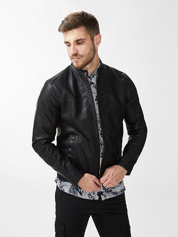 PU Байкер-стиль куртка кожаная