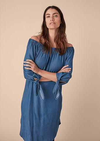 Пышное платье в имитация джинса