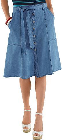 Юбка в имитация джинса