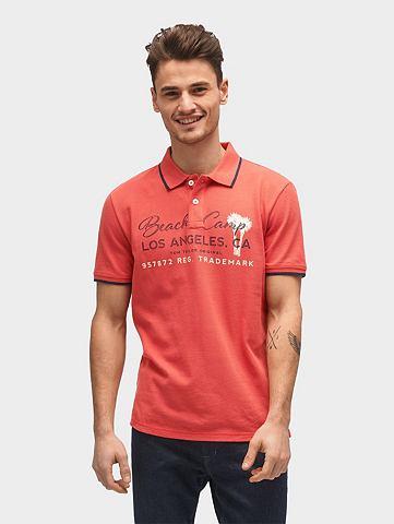 Футболка Поло рубашка с Schrift-Print&...
