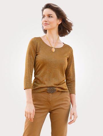 Пуловер из schimmerndem Glanzgarn