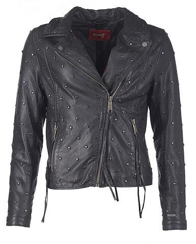 Кожаный пиджак с асимметричный замок &...
