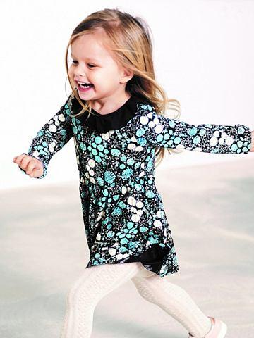 Blumenprint- платье с длинa рукавами