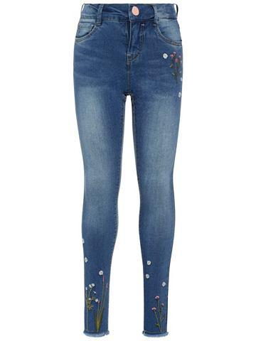 Polly облегающий форма - вышитый джинс...