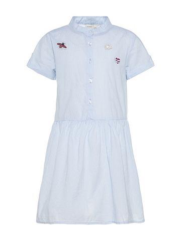 NAME IT Полосатый платье с короткая рукавами