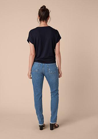 Красивая Boyfriend: вышитый джинсы