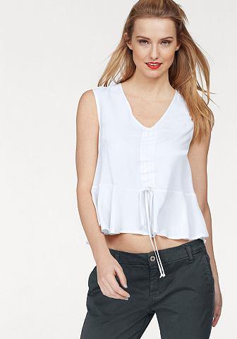 Please джинсы блузка с рюшами
