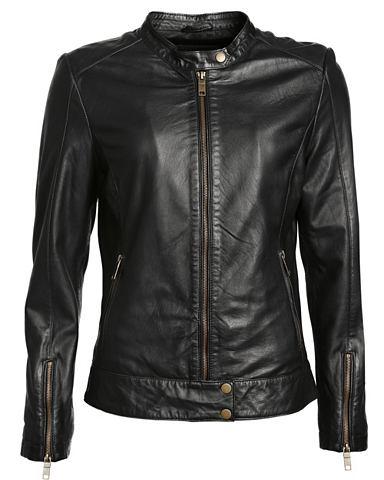 Куртка кожаная в Bikerstil с воротник ...