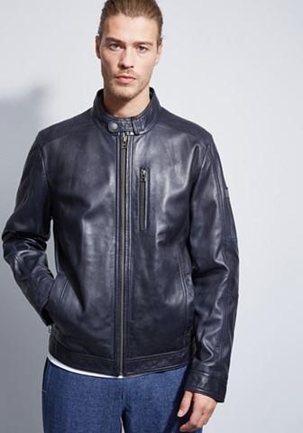 Модная куртка кожаная с воротник стойк...