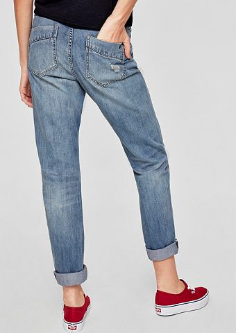 Bowleg: Relaxte потертые джинсы
