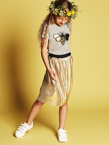 Плиссированные ральфлоры Gold юбка