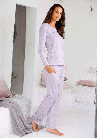 Пижама с блестящий цветочным узором