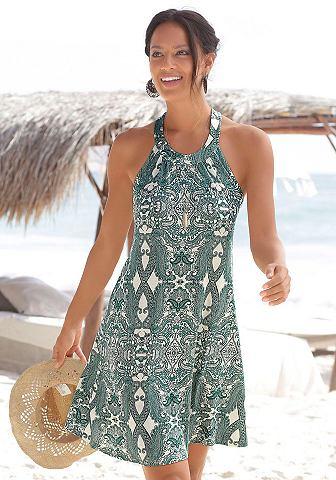 Платье пляжное с tiefem вырез