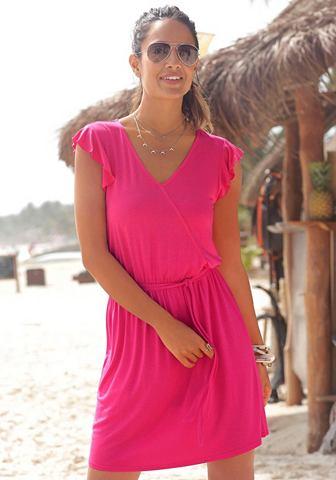 Платье пляжное в с ложным запахом