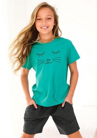 Mädchen пижама с Cat узор