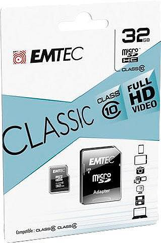 EMTEC Micro SDHC 32GB Class 10 Classic с SD-...