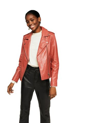 Байкерские куртка из кожа