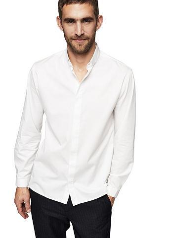 Узкий рубашка с воротник стойка из хло...